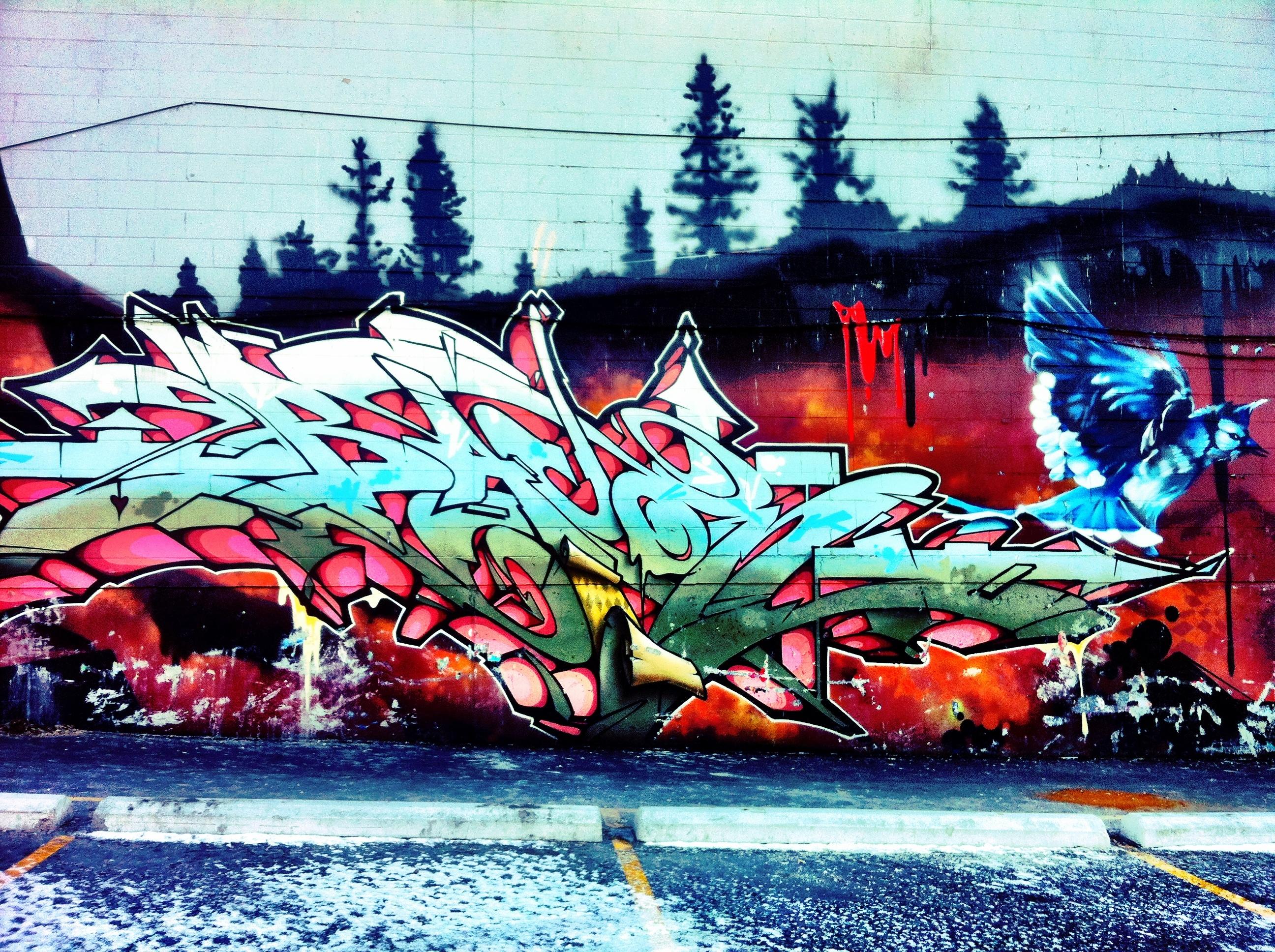 Graffiti wall toronto downtown - Tag S